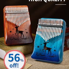 Thumb-Piano Key-Instruments Mahogany Mbira Kalimba Wooden Musical 21-Keys 30