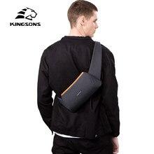 Kingsons nova crossbody saco de ombro masculino estilingue peito corpo cruz mensageiro bolsa para cinto de cintura correspondência à prova dwaterproof água