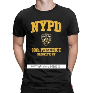 Brooklyn Nine Nine Men T Shirt 99th Precinct Brooklyn NY 99 Humor Cotton Camisas Tee Shirt Round Neck Tops T Shirts Winter Tops