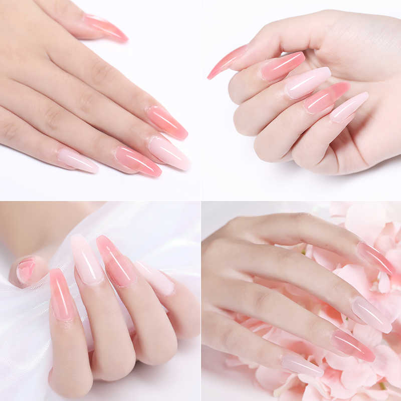 MIZHSE 30ml Polygel Nail Acryl Poly Gel Kits Nail Art Clear Camouflage Kleur Nail Tips Crystal UV Gel Polygel slice Borstel