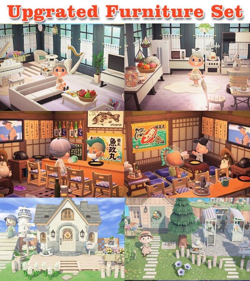 Galleria fotografica Animal Crossing Mobili Set per <font><b>Nintendo</b></font> Interruttore di Animal Crossing Nuovi Orizzonti Aggiornato Mobili Isola Amiibo ACNH 24 H On-Line