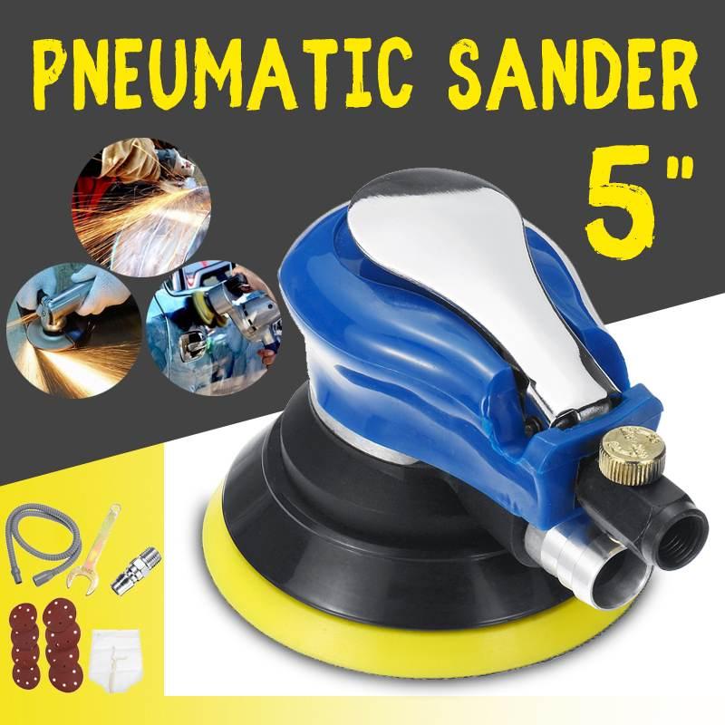Drillpro 5 Inch/6Inch Matte Surface Circular Pneumatic Sandpaper Random Orbital Air Sander Polished Grinding Machine Hand Tools|Pneumatic Tools| |  - title=