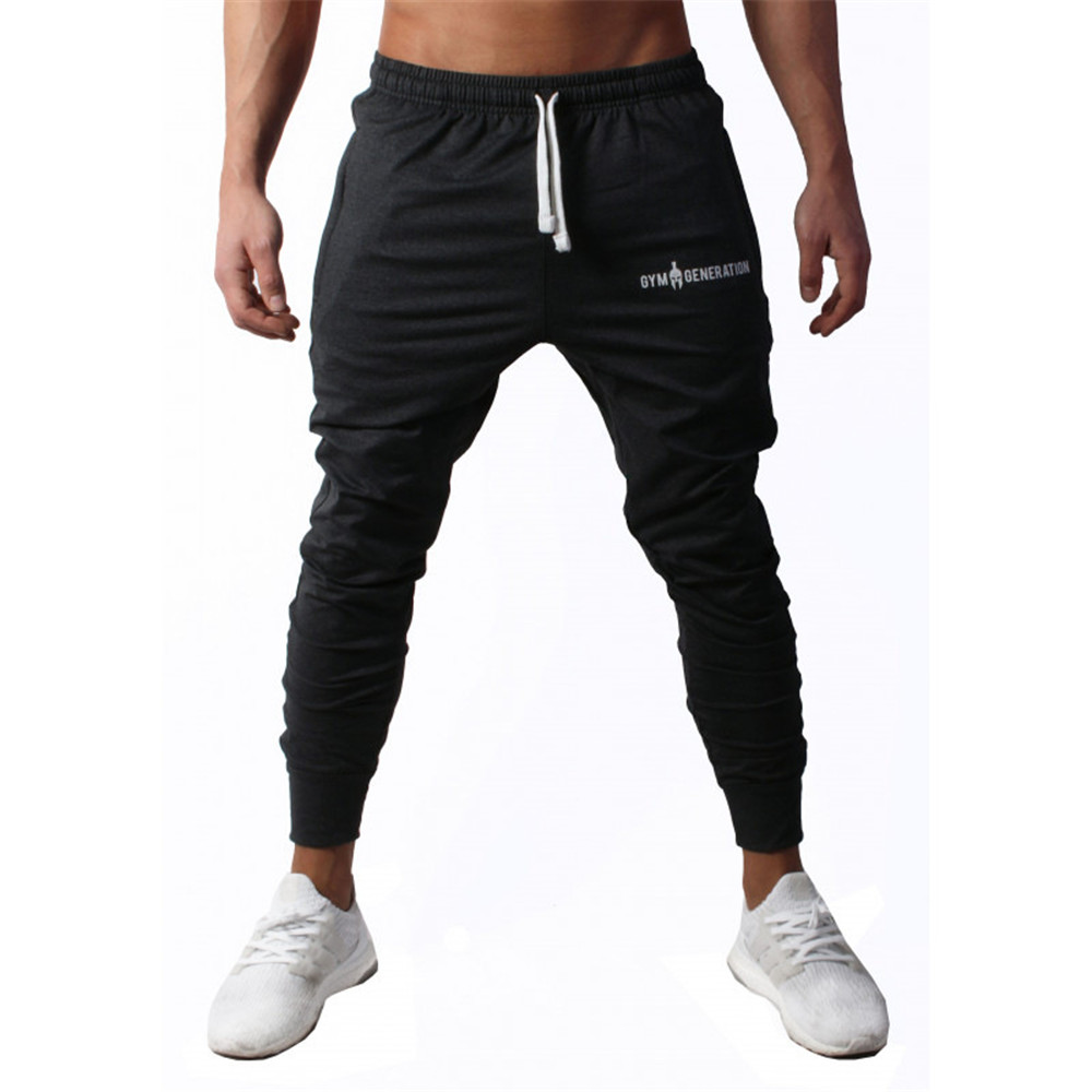 Black Gym Sweatpants Joggers Pants Men Casual Trousers Male Fitness Workout Training Cotton Track Pants Running Sport Sportswear