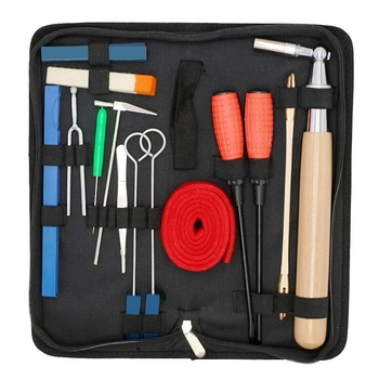 Piano Tuning Kit 16Pcs Professional Piano Tuners Tools Set Wrench Hammer Mute Fork Screwdriver Belt Tweezers Clip new hot walnut wood piano treble stick double ended mediant and alt for piano tuning mute