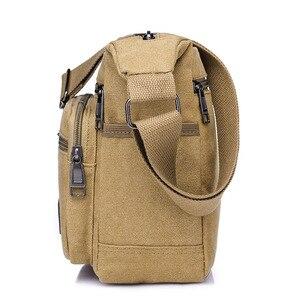 Image 2 - Холщовая Сумка через плечо, вместительный мессенджер с несколькими карманами, крутая Повседневная дорожная и школьная Сумочка на плечо