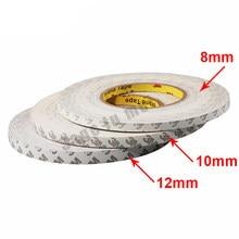 Dupla Face 3M Fitas Adesivas Forte Pegajoso 50M/Largura Do Rolo 8mm/10mm/12mm/15mm ws2811 ws2812 3528 5050 tiras de Led