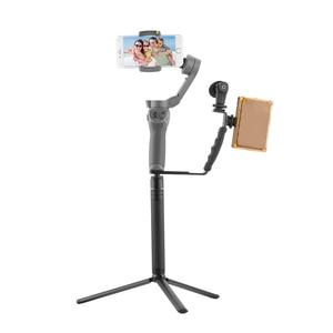 Image 3 - L בצורת ידית מחזיק עבור DJI OM 4 אוסמו נייד 3 2 מייצב חצובה הארכת מוט LED וידאו אור הר מיקרופון סוגר