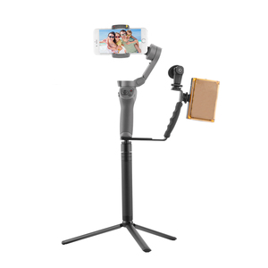 Image 3 - Support de poignée en forme de L pour DJI OM 4 Osmo Mobile 3 2 stabilisateur tige dextension de trépied LED support de Microphone de montage de lumière vidéo