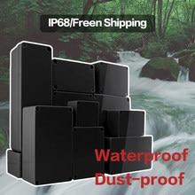 Black Box Outdoor Waterproof Case Plastic Box Electronic Project Case Instrument Waterproof Junction Box Housing