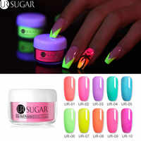 UR SUGAR 5ml Fluorescence Neon Dipping Nail Powder Glitter Dip Pigment Dust Nail Art Decoration Natural Dry Without Lamp Cure
