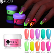 UR SUGAR 5ml Fluorescence Neon Dipping Nail Powder Glitter Dip Pigment Dust Art Decoration Natural Dry Without Lamp Cure