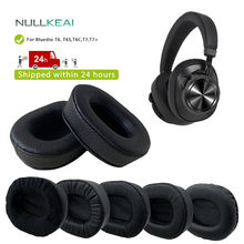 Null lkeai – oreillettes en cuir épais de remplacement, pour Bluedio T6,T6S,T6C,T7,T7 +, manchon éponge de mémoire de casque