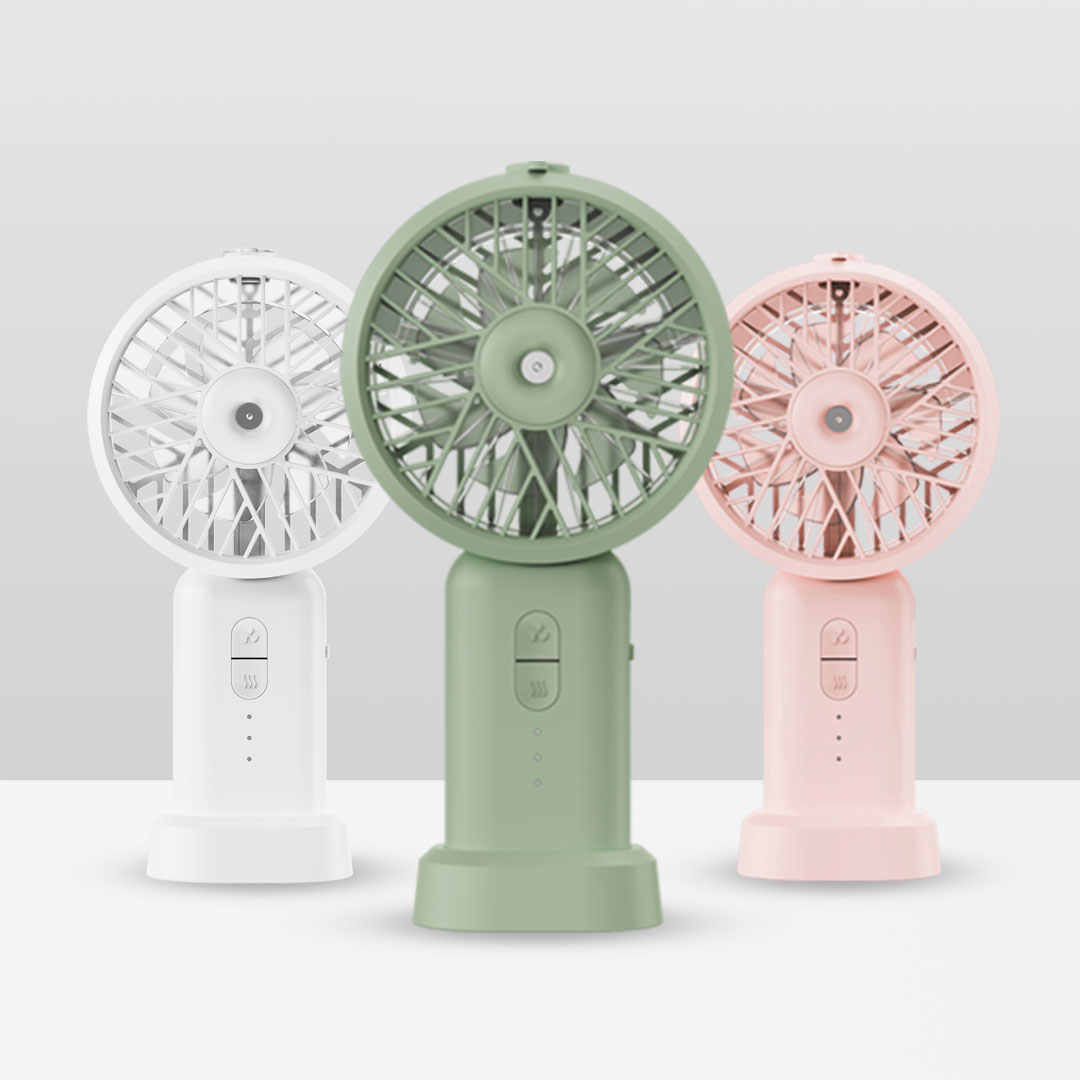 Ruipunuosi USB Leafless Fan Simple Handheld Mini Fan Portable Desktop Fan Cute Creative Small Fan Summer Travel Camping Fan