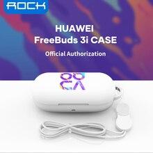 ROCK – coque antichoc en Silicone pour Huawei Freebuds 3i, protection à 360 °, lavable avec lanière Anti-perte, accessoires pour écouteurs