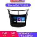 9 дюймов Android 8 1 автомобильный радиоприемник с навигацией GPS мультимедийный плеер для Chevrolet Sail 2015-2018 Wifi Bluetooth 16GB