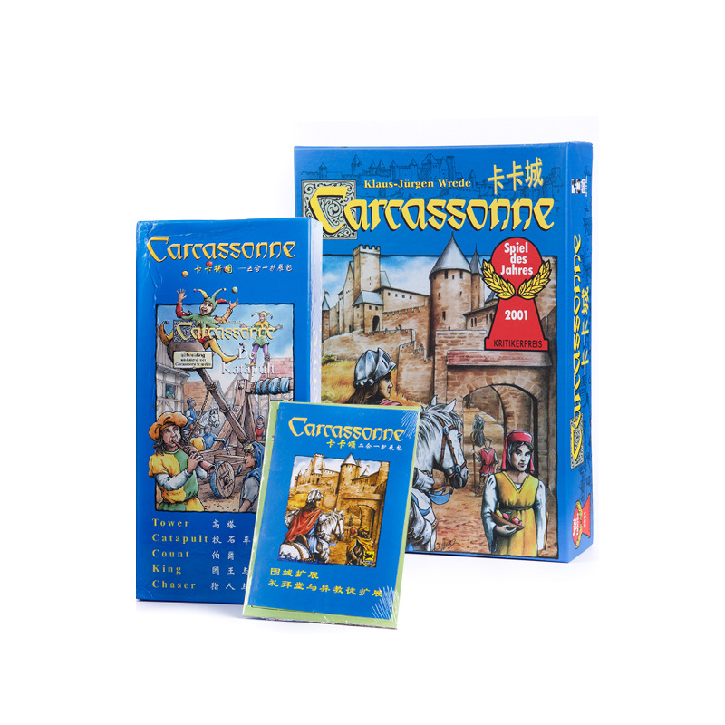 Carcassonne Kaka City Full Set Basic Edition With River Expanding Chinese Party Board Games Card