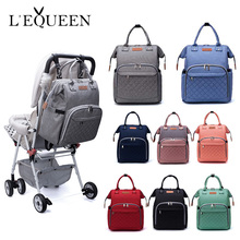 Lequeen модная Большая вместительная сумка для подгузников для мам сумка для подгузников дорожный рюкзак для кормления Детская сумка