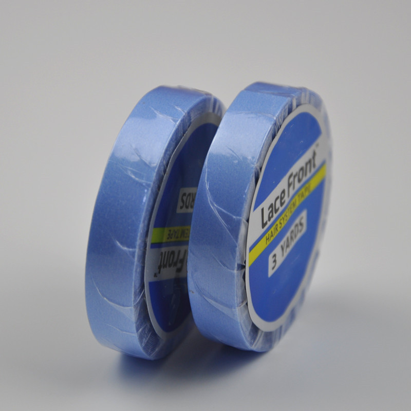 0 8cm 3yards Blue Lace Front Double sided Adhesive Water proof Super Tape For Hair Extension Lace Wig Hairpiece Toupee in Adhesives from Hair Extensions Wigs
