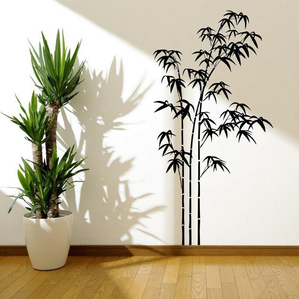 Бамбук, растение, узор, стикер на стену, Офисная виниловая наклейка на стену, гостиная, домашний декор, украшение для классной комнаты, детск...