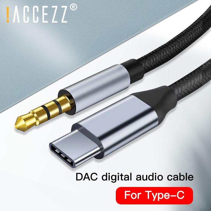 ! ACCEZZ DAC USB Type C Aux Kabel Voor Samsung S8 S9 S10 Google Plxel 2 3 ADC Draad Tot 3.5mm Jack AUX Car Audio Adapter USB-C Kabel