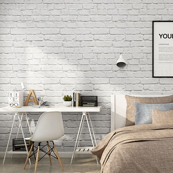 White Brick Pattern Wallpaper For Walls Roll 3D Antique Brick Wall Living Room Bedroom Clothing Store Decor Vinyl Wall Paper 3D modern stereoscopic 3d wallpaper for wall roll red white black waterpoof vinyl pvc wall paper for living room bedroom background
