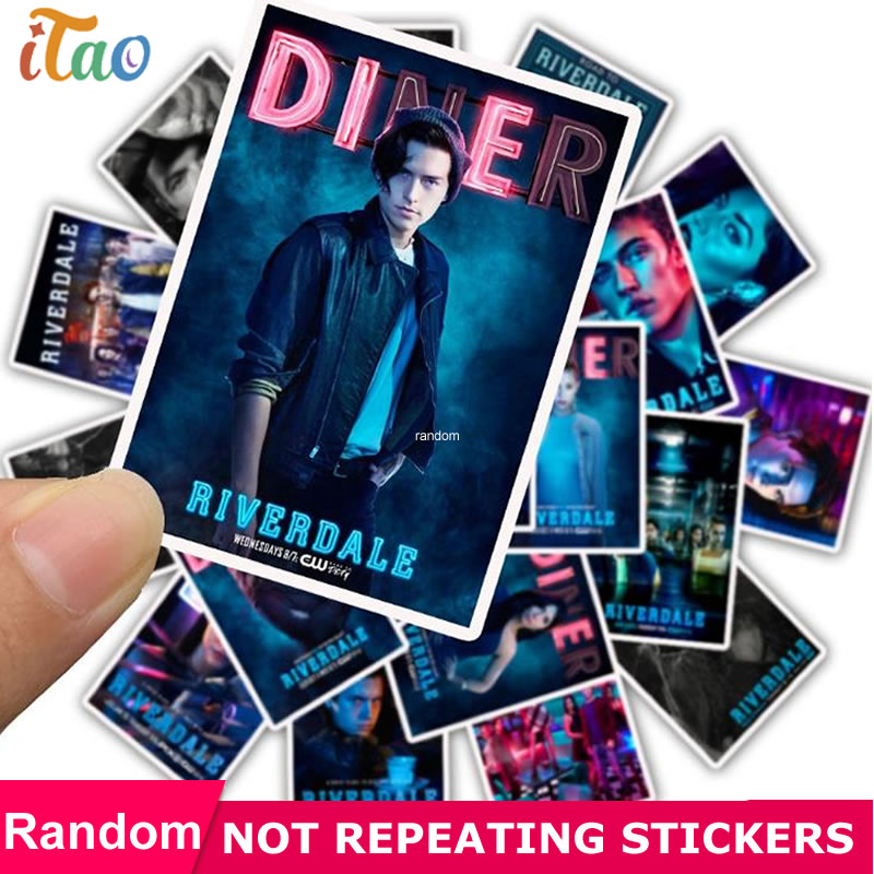 25pcs Pack Character Riverdale Stickers Waterproof PVC Skateboard Motorcycle Laptop Guitar Luggage Sticker Kids Toy Vsco Girl