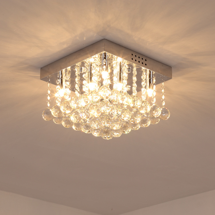 Creative Circle Crystal Ceiling Lamp Creative Cool Restaurant Lighting Glorious Square Living Room Bedroom Corridor Lights