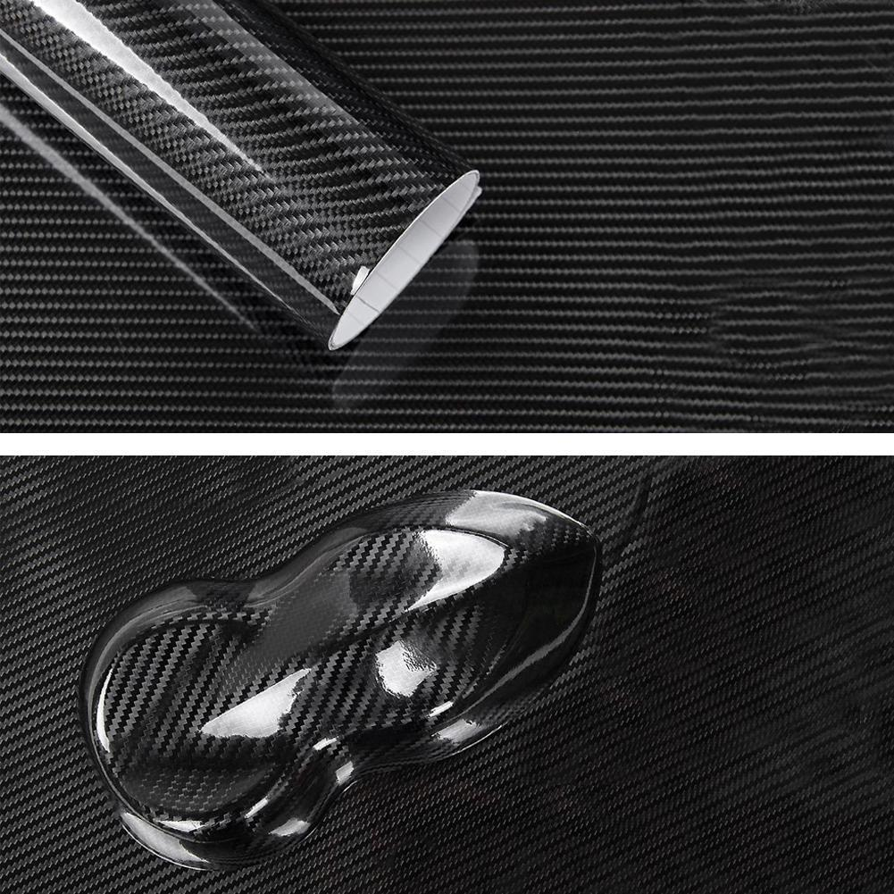 60x150cm 7D Texture Weave High Glossy Carbon Fiber Film Fiber Motorcycle Interior Carbon Car Car Accessorie Wrap Styling St X6A2