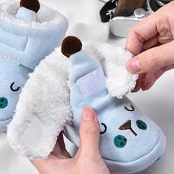 Новое поступление, детская обувь унисекс, хлопковая теплая зимняя обувь с героями мультфильмов, удобная теплая обувь для новорожденных-35