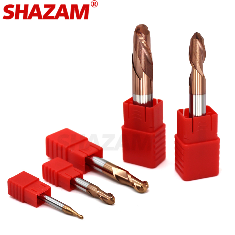 Milling Cutter Alloy Coating Tungsten Steel Tool Cnc Maching Hrc55  Ball Nose Endmills SHAZAM Top Milling Cutter Machine Endmill
