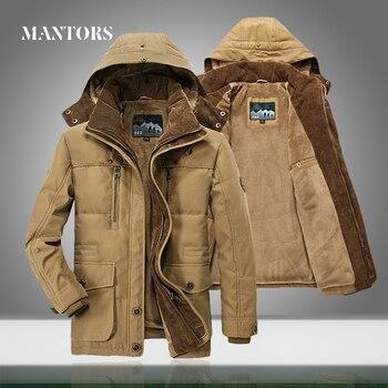 New Men Warm Thick Parkas Jacket 2021 Winter Casual Waterproof Velvet Coat Male Outwear Windproof Hooded Parkas Overcoat Zipper