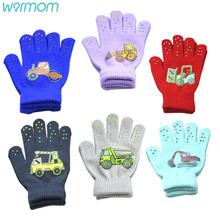 Warmom dziecięce rękawiczki zimowe dziecięce chłopcy dziewczęce ciepłe rękawiczki dziecięce rękawiczki dziecięce dziecięce maluchy dziecięce pełne mitenki tanie tanio CN (pochodzenie) Akrylowe spandex Acrylic Drukuj Unisex 7110 for 6-12year