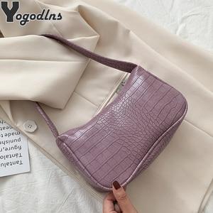 Retro Alligator Women Messenger Handbags and Purse Luxury Baguette Shoulder Bags for women Split Crocodile Bolsas Sac A Main