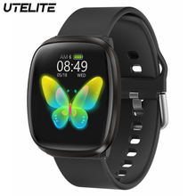 UTELITE E102 Smart Watch Men Women with BT 5.0 Full Touch Screen IP67 Waterproof Fitness Tracker Heart Rate Monitor Sports