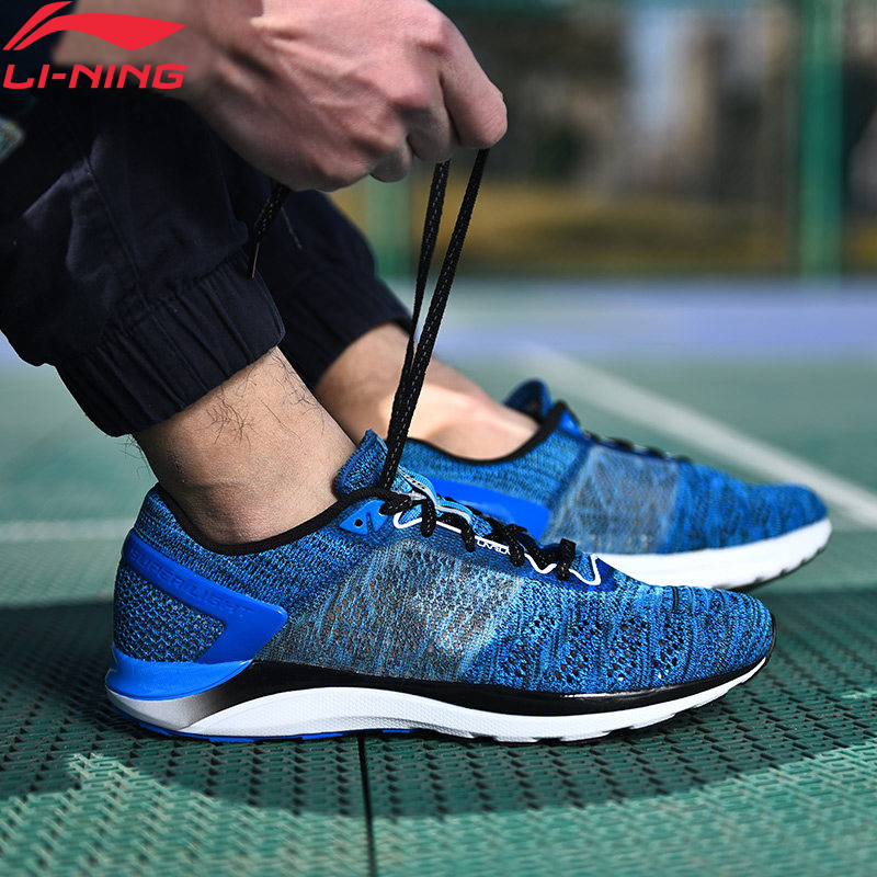 (Break Code)Li-Ning Men's SUPER LIGHT XIV Running Shoes Cushioning Sneakers Breathable LiNing Li Ning Sport Shoes ARBM019 XYP468