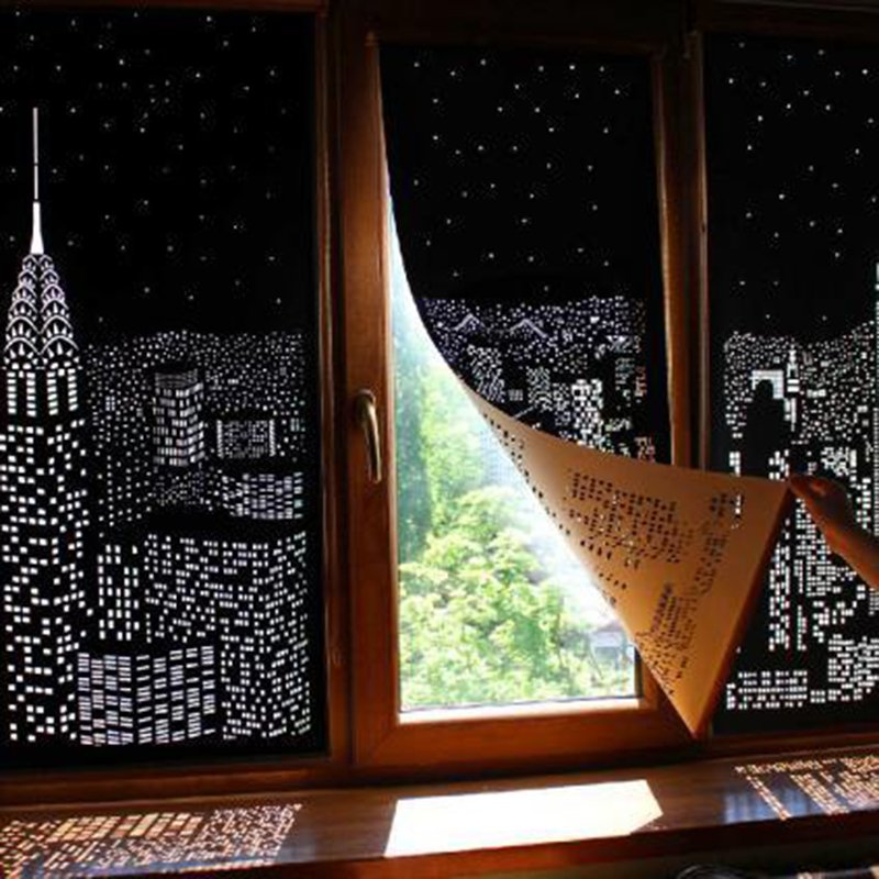 2020 New Blackout Curtains City Night Curtains Bedroom And Living Room Curtains