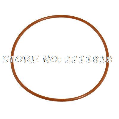 80mm Outside Dia 2.5mm Thick Flexible Silicone O Ring Seal Brick Red
