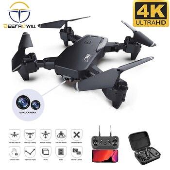 2020 nowa kamera szerokokątna S60 Rc 4k HD 1080P WiFi dron FPV podwójny aparat Quadcopter transmisja w czasie rzeczywistym zabawki-helikoptery