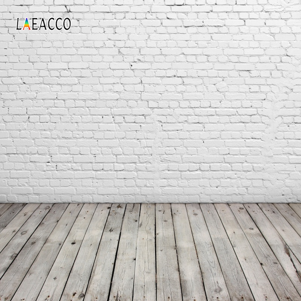 Laeacco Brick Wall Wooden Floor Grunge Portrait Doll Photography Backgrounds Customized Photographic Backdrops For Photo Studio