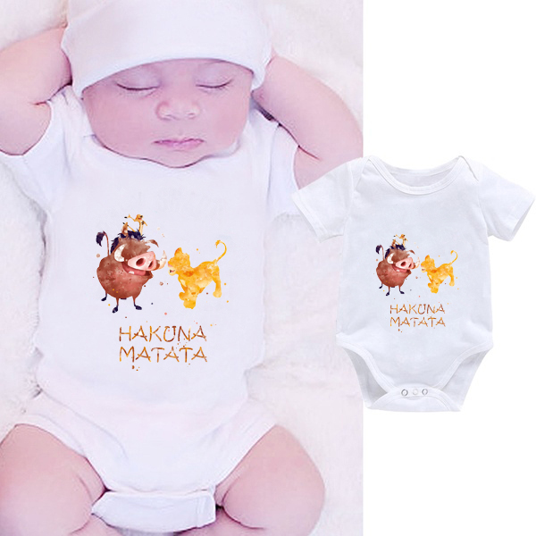 DERMSPE 2019 Summer Funny Infant Bodysuit Newborn Baby Boys Girls Letter Print Jumpsuit Infants Lovely Cartoon Clothes