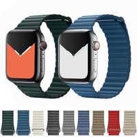 Leder schleife strap für apple watch 5 4 band correa apple watch 44mm 40mm 42mm 38mm iwatch 5 4 3 2 1 armband pulseira