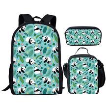 2020 Cute Panda 3D Print Kids School Bag Set Multifunction Kid Backpack for Teen Boys Girls Student Schoolbag Book Bags Bagpacks cheap doginthehole Polyester zipper 370kg 44inch Animal Prints C+G+K unisex 13inch 28inch School Bags Backpack+Lunch Bag+Pencil Bag