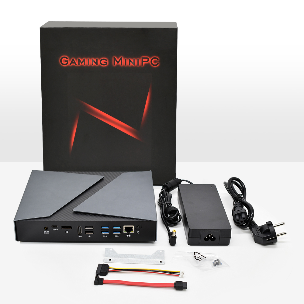 TOPTON для игровых мини-ПК Intel Core i9-9980HK i9-8950HK i5-9300H GTX 1650 2 * DDR4 настольный компьютер Windows 10 с разрешением 4K HDMI DP Тип-C Wi-Fi