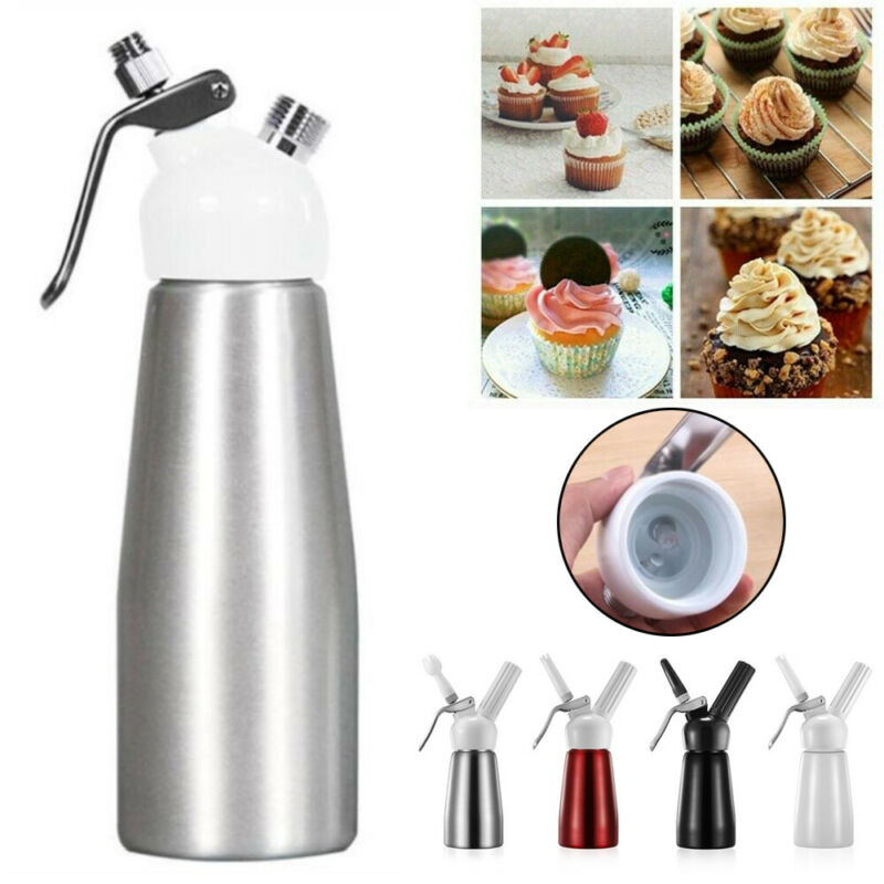250ML Cream Cutter Cream Dispenser Whipped Cream Siphon Cream Whipper 3 Nozzles Plastic Mouth Can Ce Decorated With Creamer