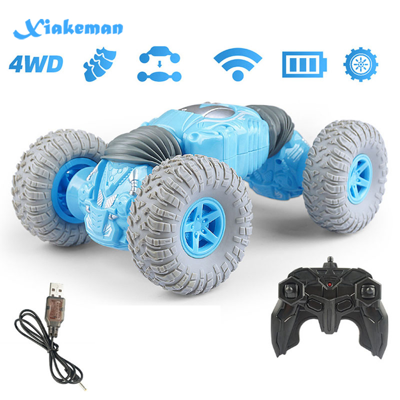 Remote Control Car Kids Toys, Rechargable Off Road Vehicle 2.4 GHz Rock Crawler RC Stunt Hobby Car,Xmas Gifts For Boys And Girls