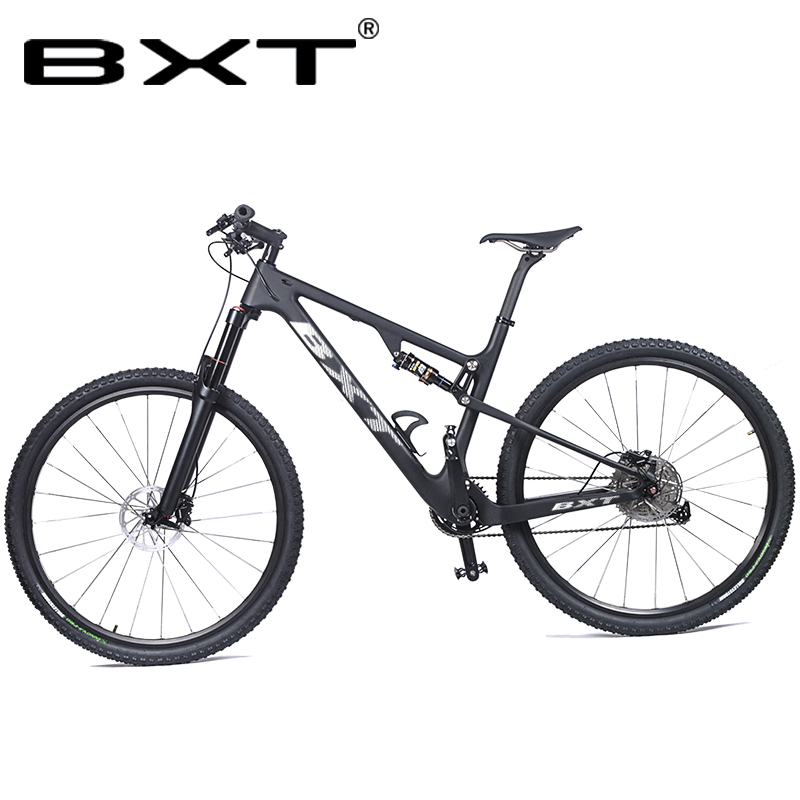 BXT Mountain Suspension Bike 29er Full Carbon Ultralight 1*11Speed Disc Brakes 29in Suspension Bike Frame Complete MTB Bicycle