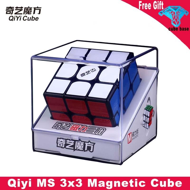 Qiyi magnético preto mágico cubo 3x3 mofangge 3x3x3 ms velocidade cubo stickerless ímãs cubo magico brinquedos educativos