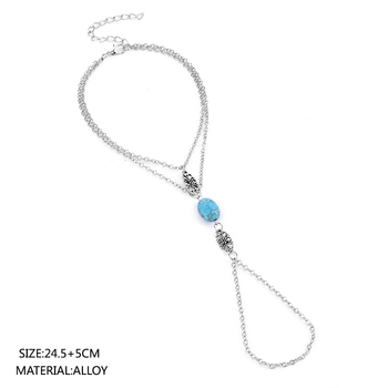 2020 NEW Summer Style Ankle Bracelet For Women Foot Chain Jewelry Charm Barefoot Sandals Foot Bracelet Anklets For Women 5