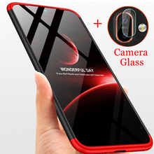 3 In 1 Camera Glass 360 Full Protection Case For Nokia 7 Plus 6.1 X6 X7 8.1 Matte Back Cover for