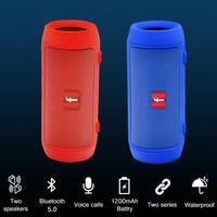 Altavoz Bluetooth inalámbrico, reproductor de música portátil a prueba de agua con 5,0 emparejamiento Dual, sonido estéreo fuerte, 24H de duración